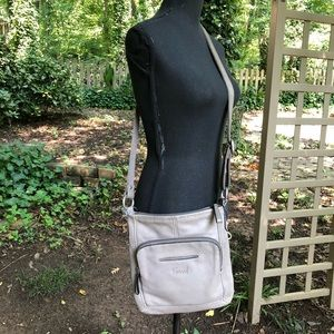 Fossil Bags - Fossil Gray Leather Cross Body Bag